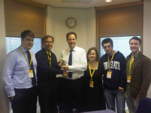 Nick Clegg, The Lib Dem Bloggers & Helen Duffett