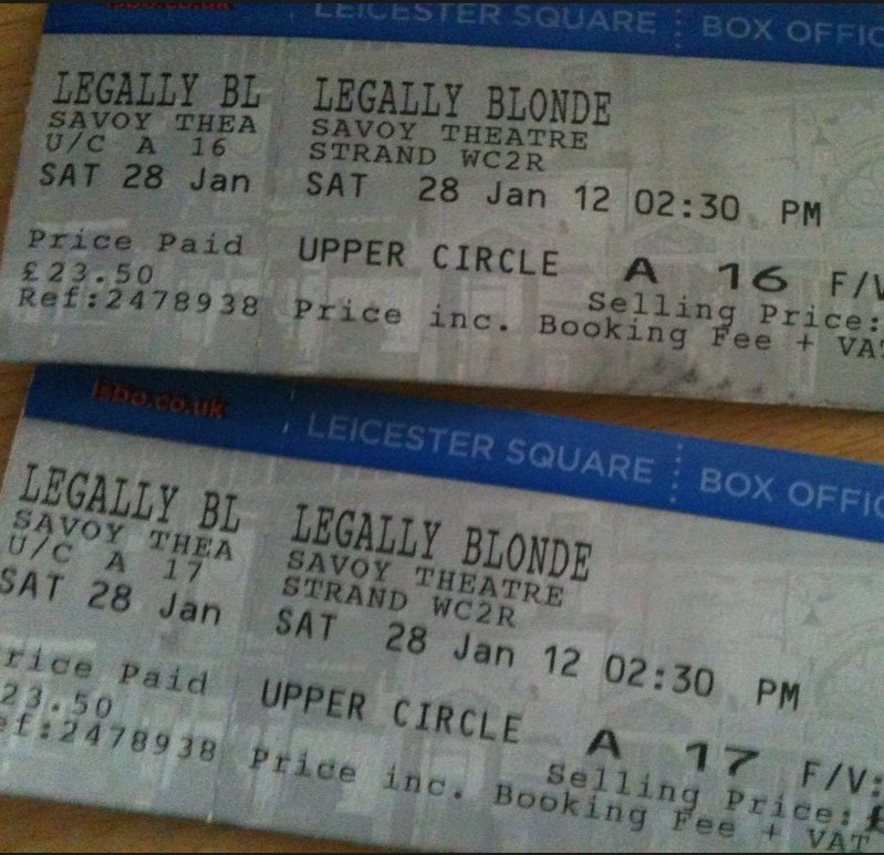 Leagally Blonde Tickets 89