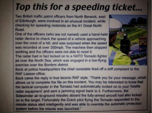 RAF Tornado Speeding Ticket?