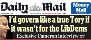 Daily Mail David Cameron