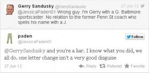 Gerry Sandusky Tweet