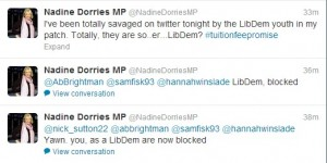 Nadine Dorries Lib Dem Twitter