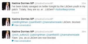 Nadine Dorries Lib Dem Twitter