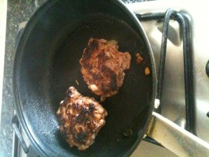 Making Home Made Burgers 5