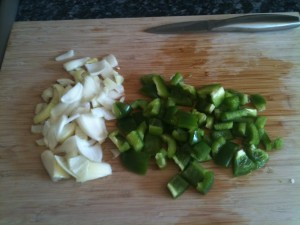 Chopped Green Peppers & Onions