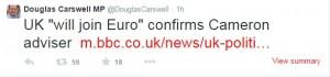 UKIP MP Douglas Carswell's tweet